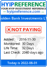 hyipreference.com - hyip golden bank investment