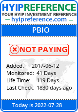 Monitored by hyipreference.com