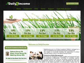 hyip program Daily2income
